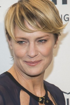 Robin Wright  short hairstyles with bangs 2015