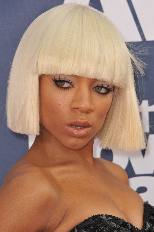 Lil Mama short hairstyles with bangs 2015
