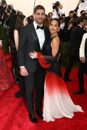 Aaron Rodgers and Olivia Munn Celebrity Hairstyles 2015