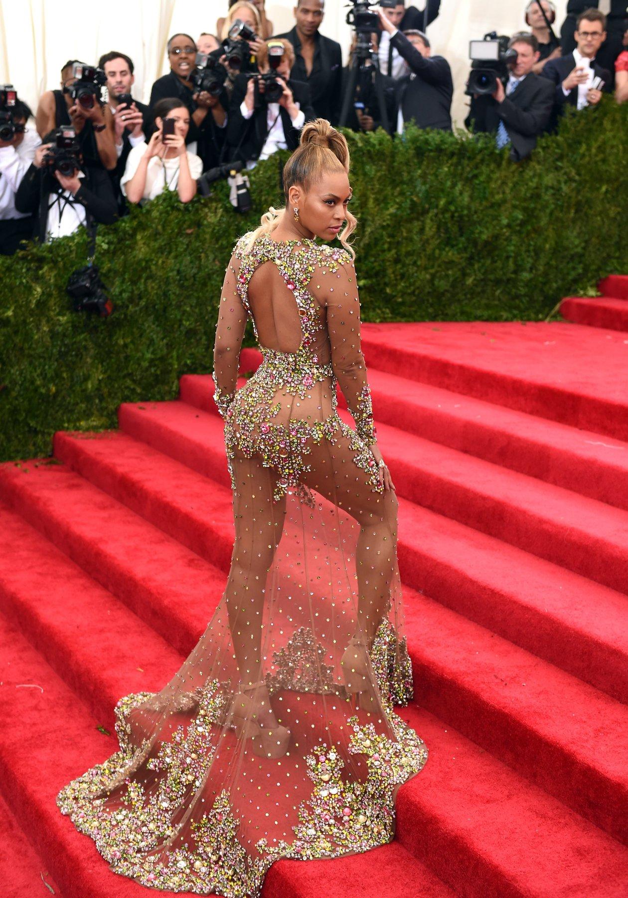 Beyonce Met Gala 2015 hairstyles