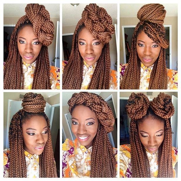 Awesome Top Trendy Box Braids Hairstyles 2015 Hairstyles 2016 Hair Short Hairstyles Gunalazisus