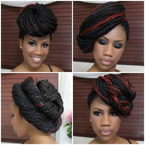 Box Braids Various Hairstyles 2015