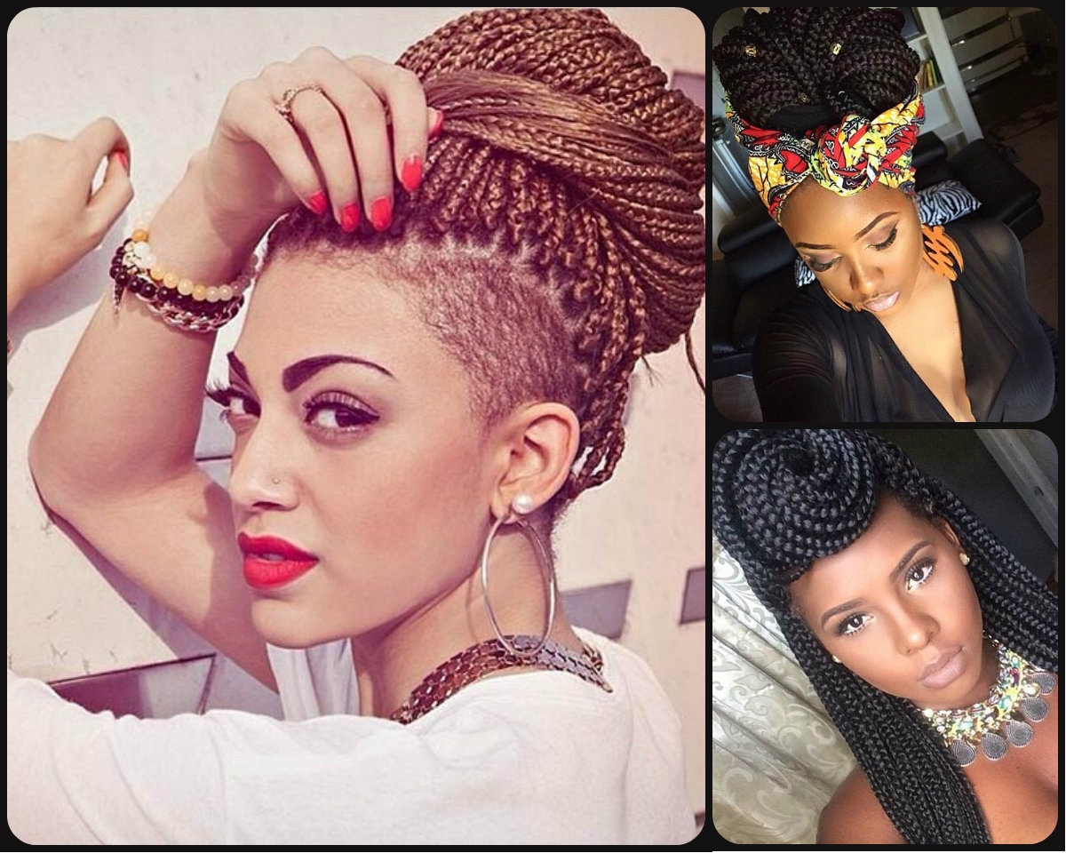 2015 African Box Braids Hairstyles