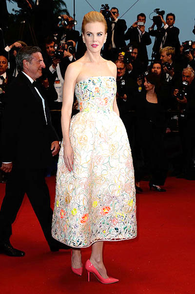 Nicole Kidman Retro hairstyles Cannes