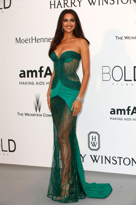 Irina Shayk Cannes amfAR Gala 2015 Celebrity Hairstyles