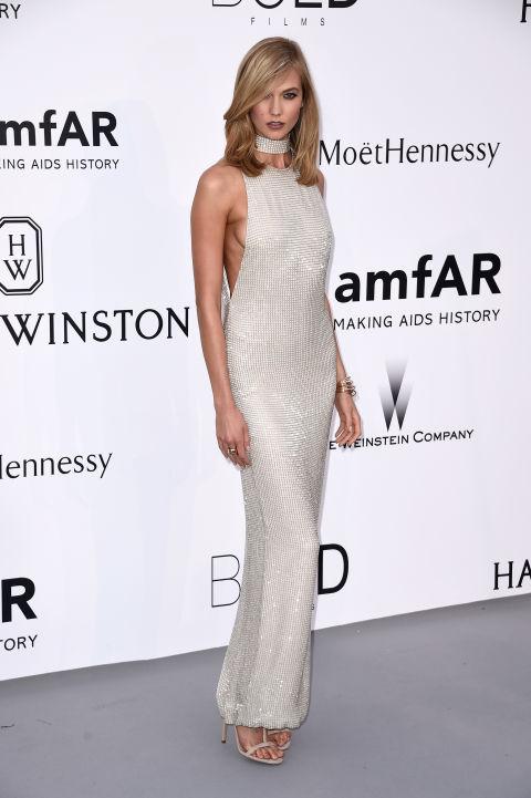 Karlie Kloss Cannes amfAR Gala 2015 Celebrity Hairstyles