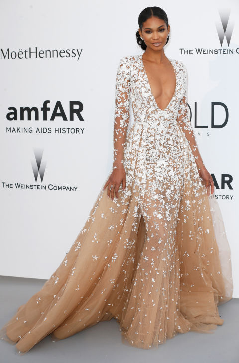 Chanel Iman Cannes amfAR Gala 2015 Celebrity Hairstyles