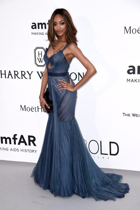 Jpurdan Dunn Cannes amfAR Gala 2015 Celebrity Hairstyles