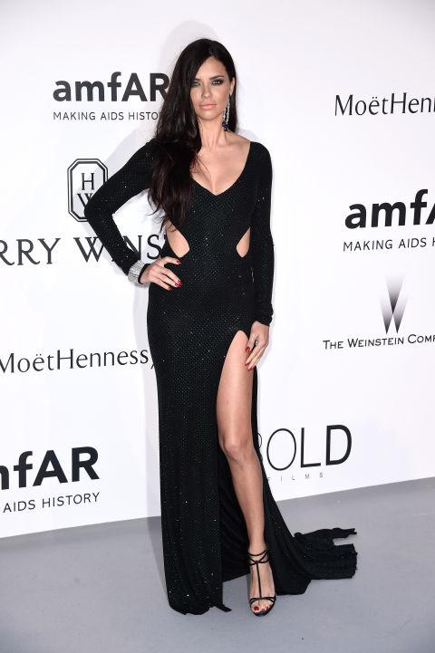 Adriana Lima Cannes amfAR Gala 2015 Celebrity Hairstyles