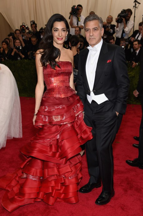 George and Amal Clooney Met Gala 2015 Hairstyles