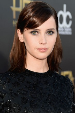 Felicity Jones Hair Colors 2015 Summer