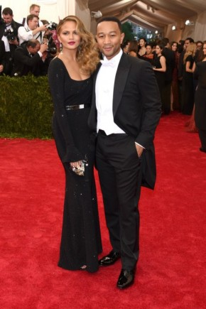 John Legend and Chrissy Teigen Met Gala 2015 Hairstyles