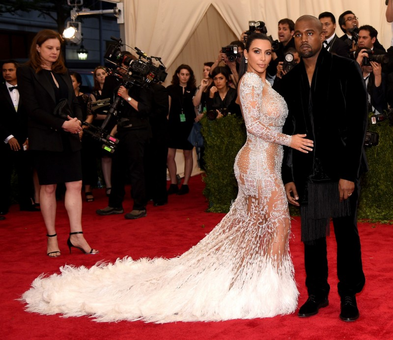 Kanye West and Kim Kardashian Met Gala 2015 Hairstyles