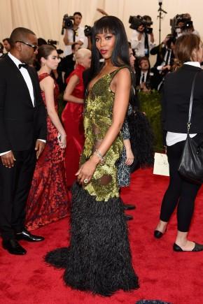 Naomi Campbell Met Gala 2015 hairstyles