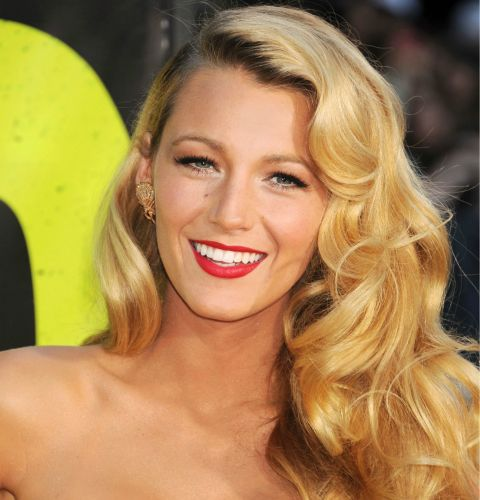 Blake Lively Retro Hairstyles 2015
