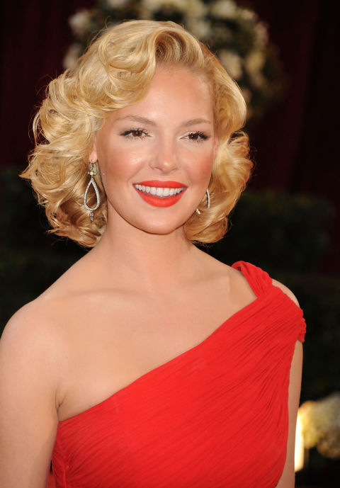 Katherine Heigl Retro Hairstyles 2015