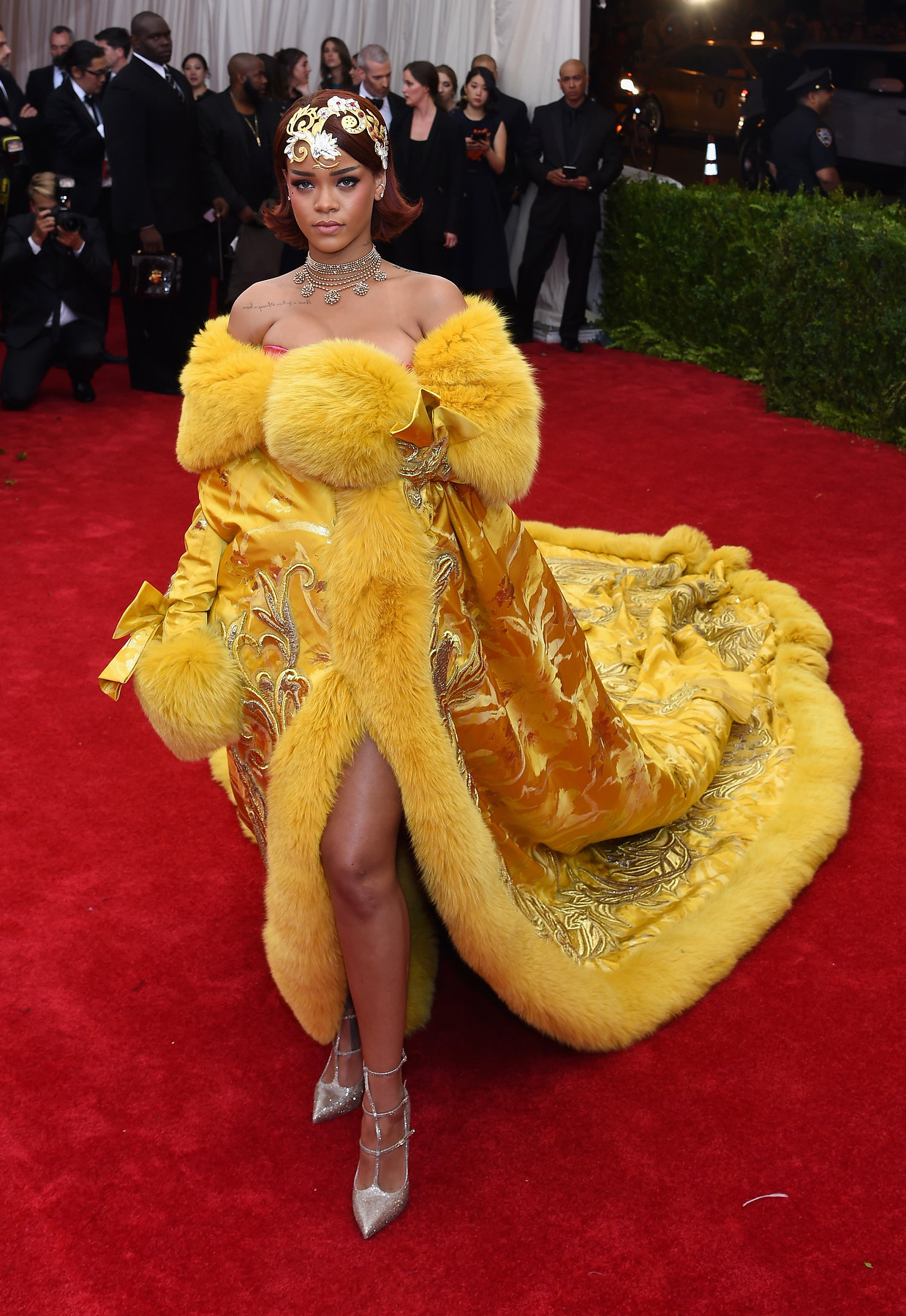 Rihanna Met Gala 2015 hairstyles