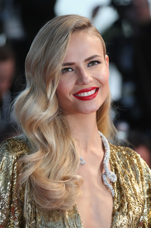 Natasha Poly hairstyles 2015 Cannes
