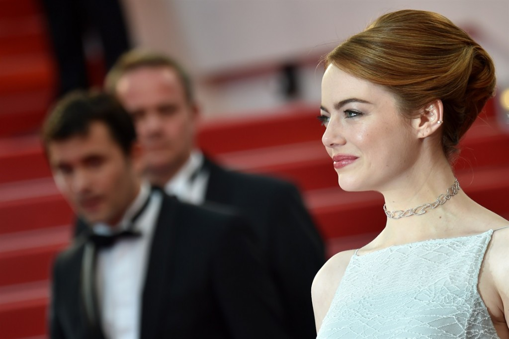 Emma Stone hairstyles 2015 Cannes
