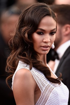 Joan Smalls hairstyles 2015 Cannes