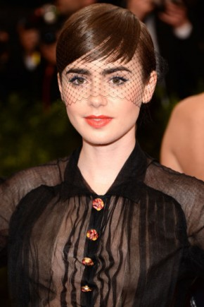 Lily Collins celebrity summer hairstyles 2015