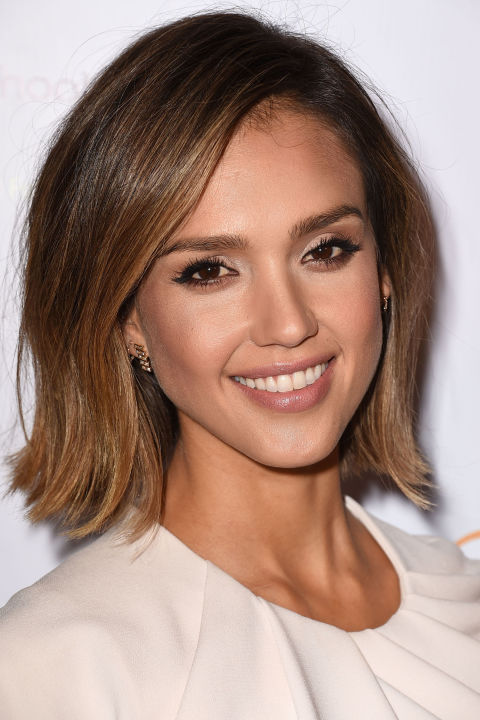 Jessica Alba celebrity summer hairstyles 2015