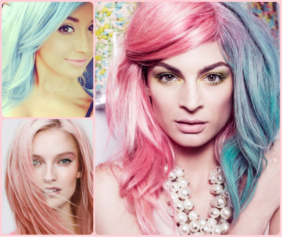 Crazy Pastel Hair Colors 2015 Summer Popular Hairstyle