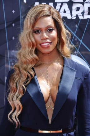 Laverne Cox BET awards 2015 hairstyles