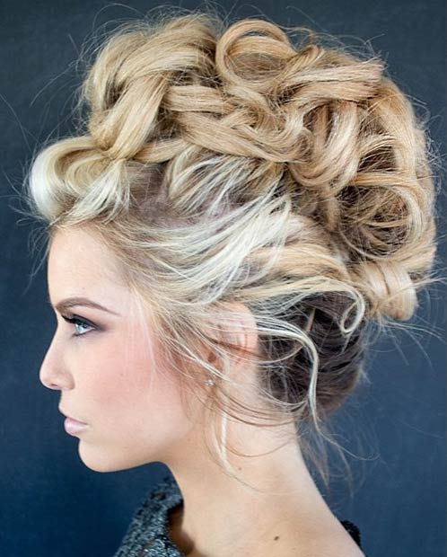 Messy Mohawk Hairstyles  2015