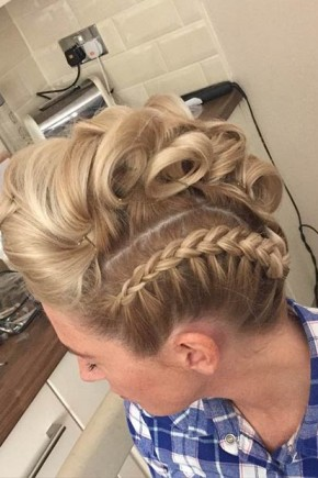 Braided sides Mohawk Hairstyles  2015