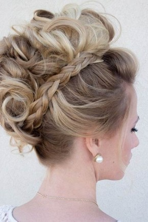 Braids and curls Mohawk Hairstyles  2015