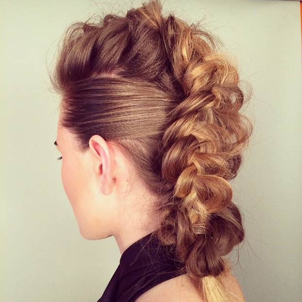 Dutch braid Mohawk Hairstyles  2015