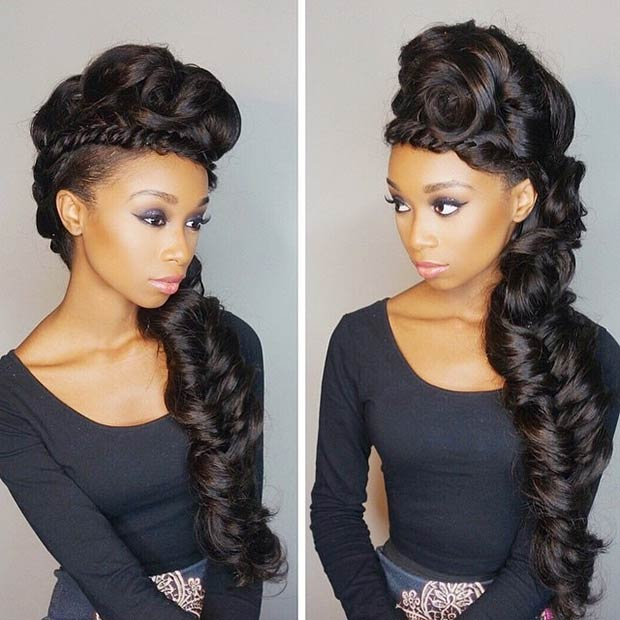 Faux hawk Hairstyles for black women 2015