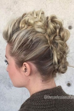 Small braids Mohawk Hairstyles  2015