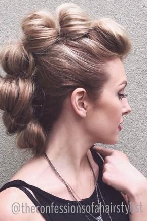 Elegant Mohawk Hairstyles  2015