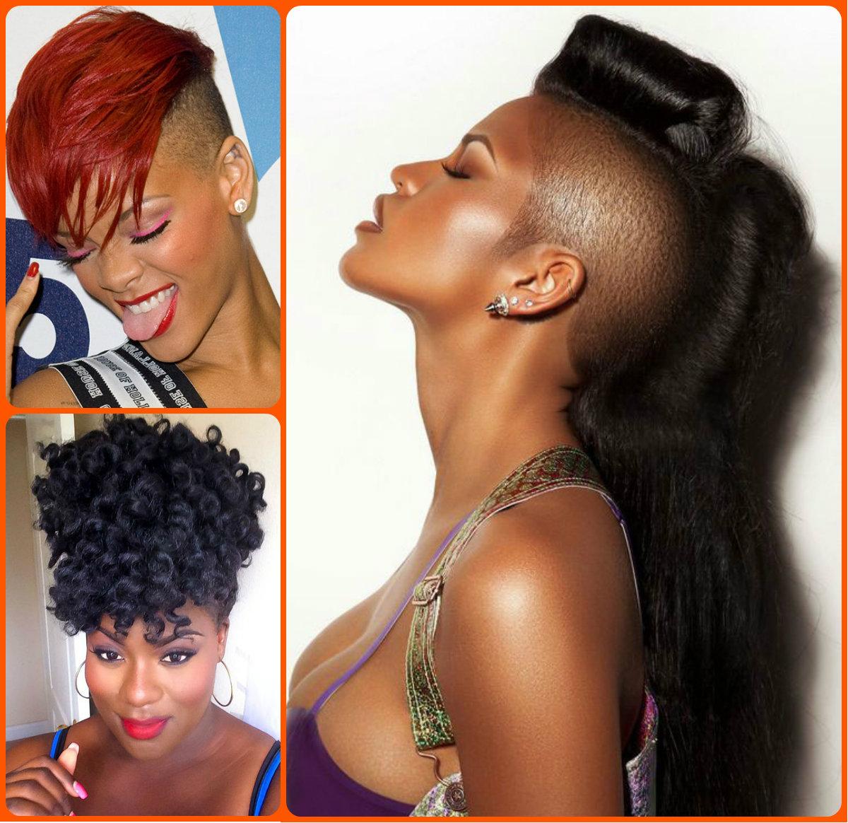 Fine Jazzy Mohawk Hairstyles For Black Women Hairstyles 2016 Hair Hairstyles For Men Maxibearus