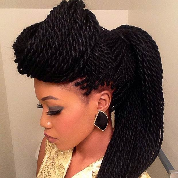 Ponytail Senegalese Twist Hairstyles