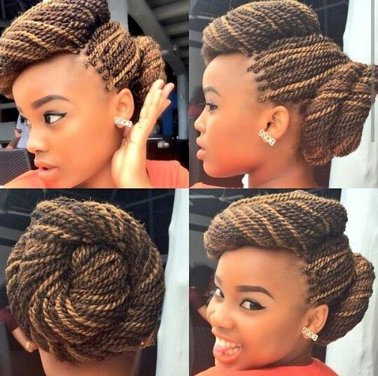 Double bun and Senegalese Twist Hairstyles