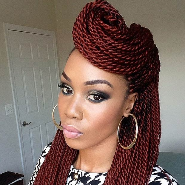 Fantastic Black Women Hairstyles Twists Twist Braid Hairstyles For