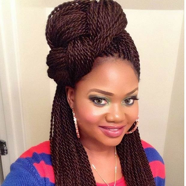 French braid Senegalese Twist Hairstyles