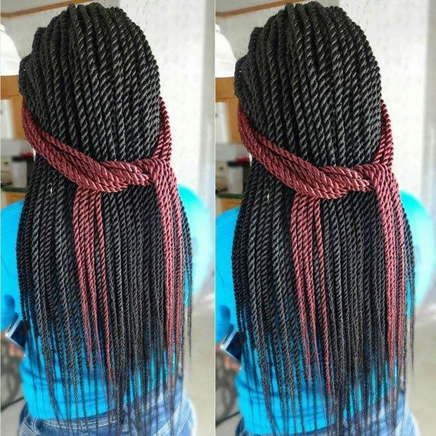 Loose Senegalese Twist Hairstyles