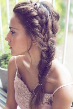Brunette Side Braids 2015