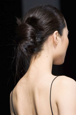 Updo hairstyles for fall 2015 at Diane von Furstenberg