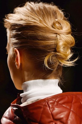 Updo hairstyles for fall 2015 at Hermès