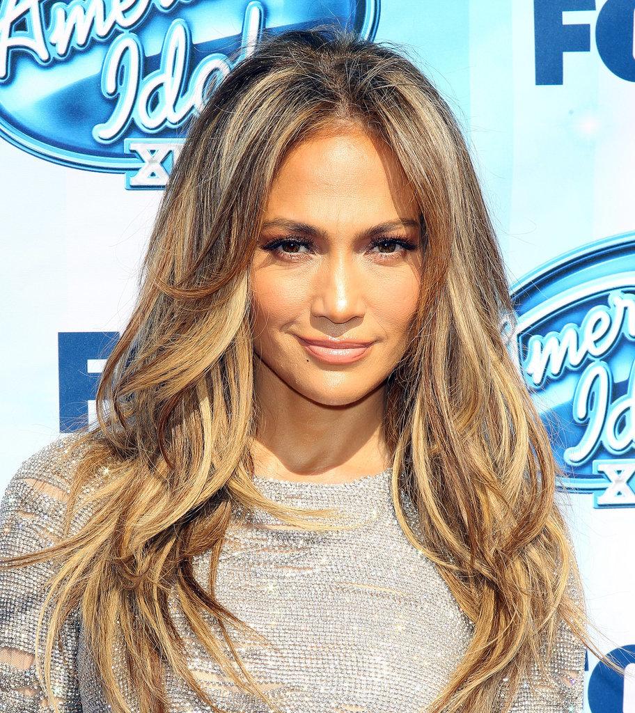 Jennifer Lopez beach waves hair 2015