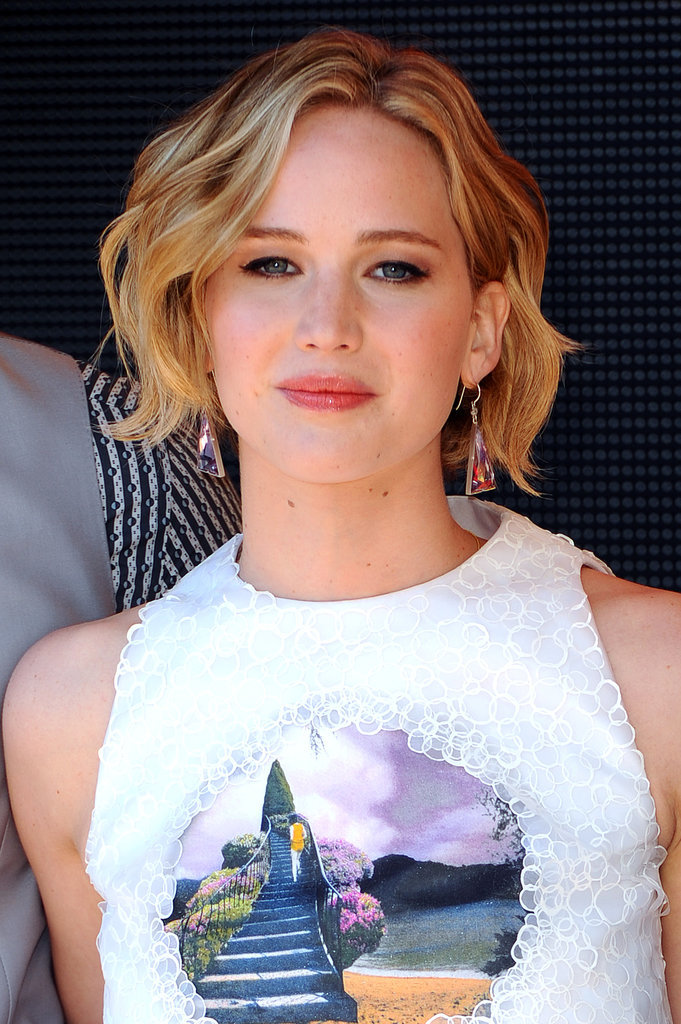 Jennifer Lawrence Beach Waves Hair 2015