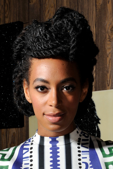 Solange Knowles braided updo 2015
