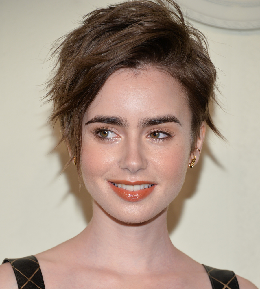 Lily Collins summer pixie 2015