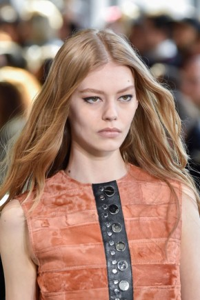 hair trends for fall 2015 at Calvin Klein