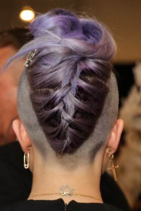messy summer mohawk braids